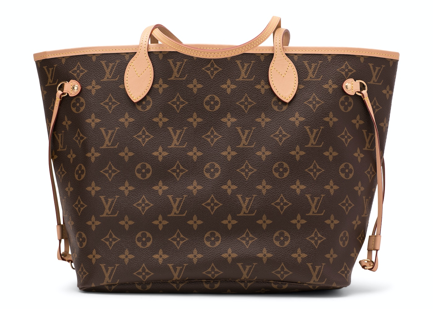 Louis Vuitton Neverfull Monogram Without Pouch Mm Beige Lining