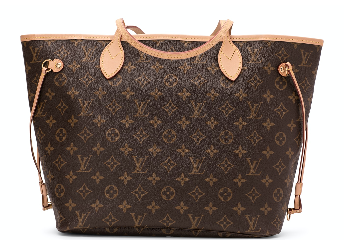 ccac52eec Louis Vuitton Neverfull Monogram (Without Pouch) MM Beige Lining
