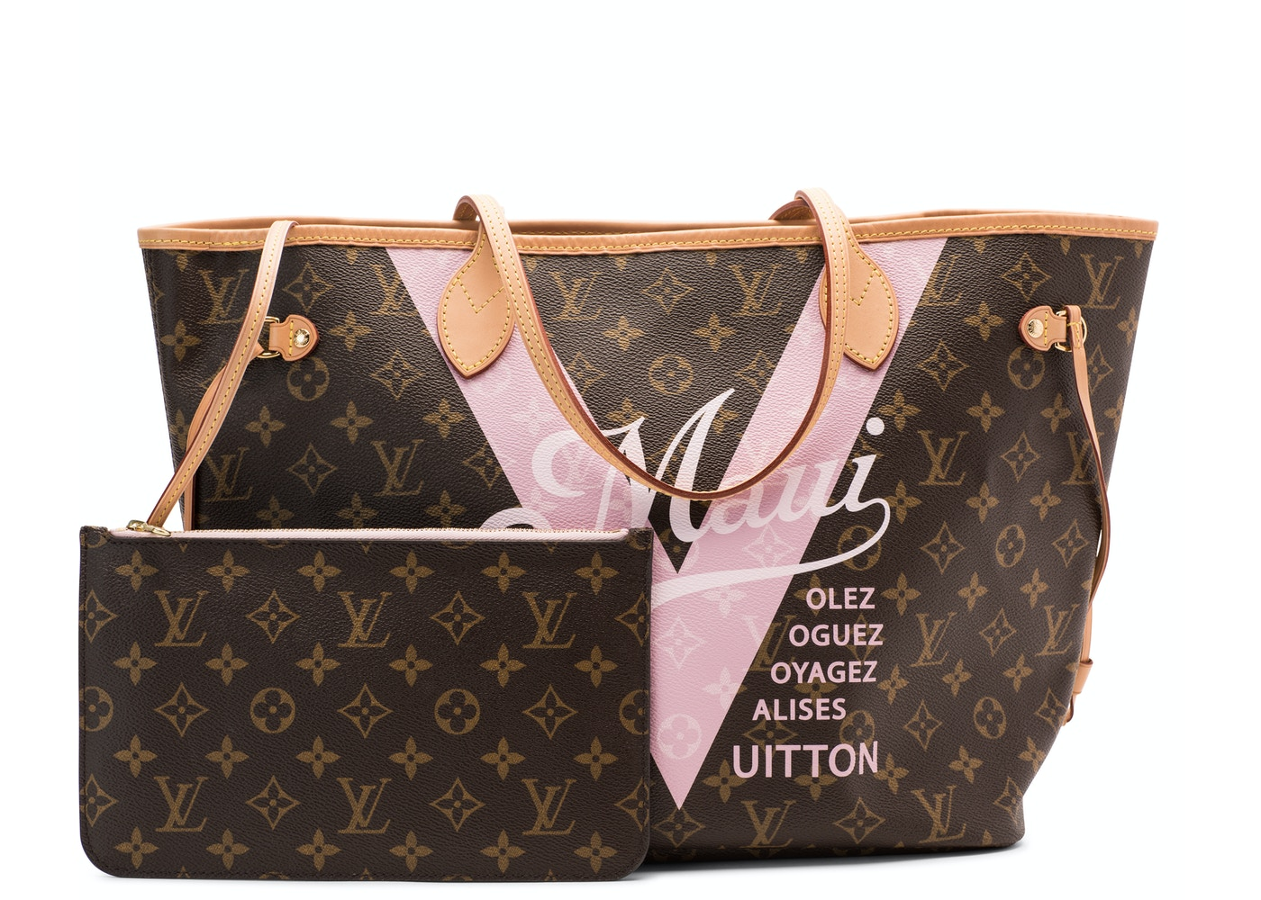 bc2c9781445e Louis Vuitton Tote Neverfull Monogram Maui V MM Rose Ballerine. Monogram  Maui V MM Rose Ballerine