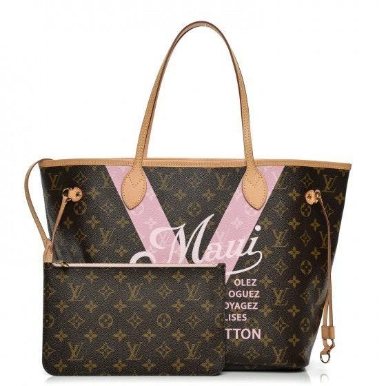 Louis Vuitton Tote Neverfull Monogram Maui V MM Rose Ballerine