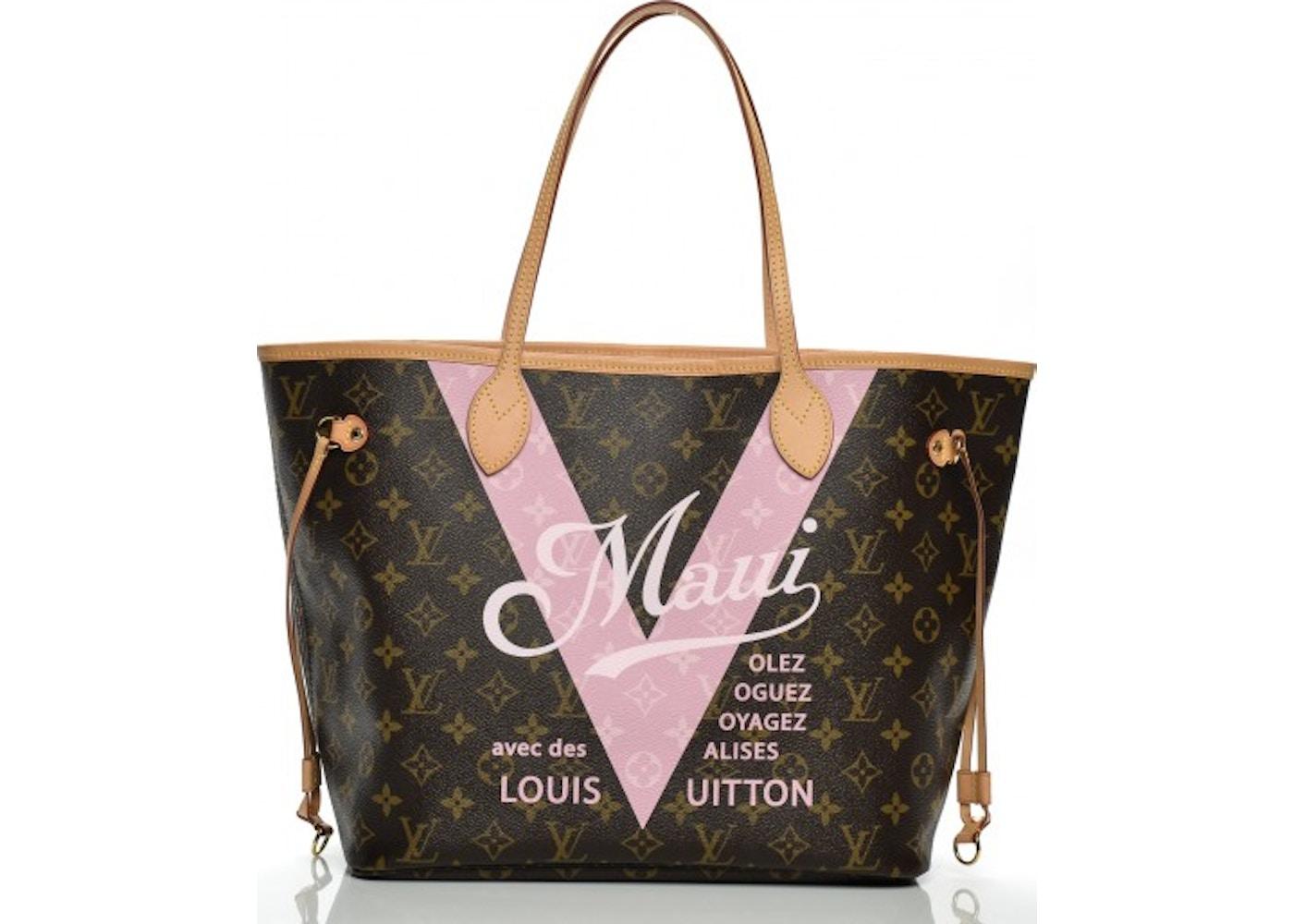 17ef3f15c155 Louis Vuitton Neverfull Monogram V Cities Maui MM Rose Ballerine. Monogram V  Cities Maui MM Rose Ballerine