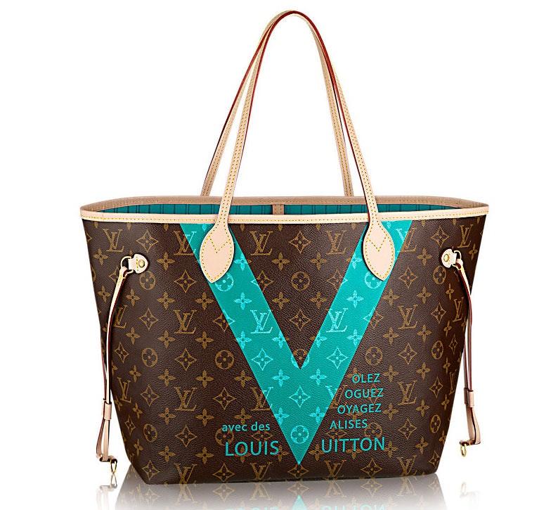 Louis Vuitton Neverfull Monogram V MM Turquoise