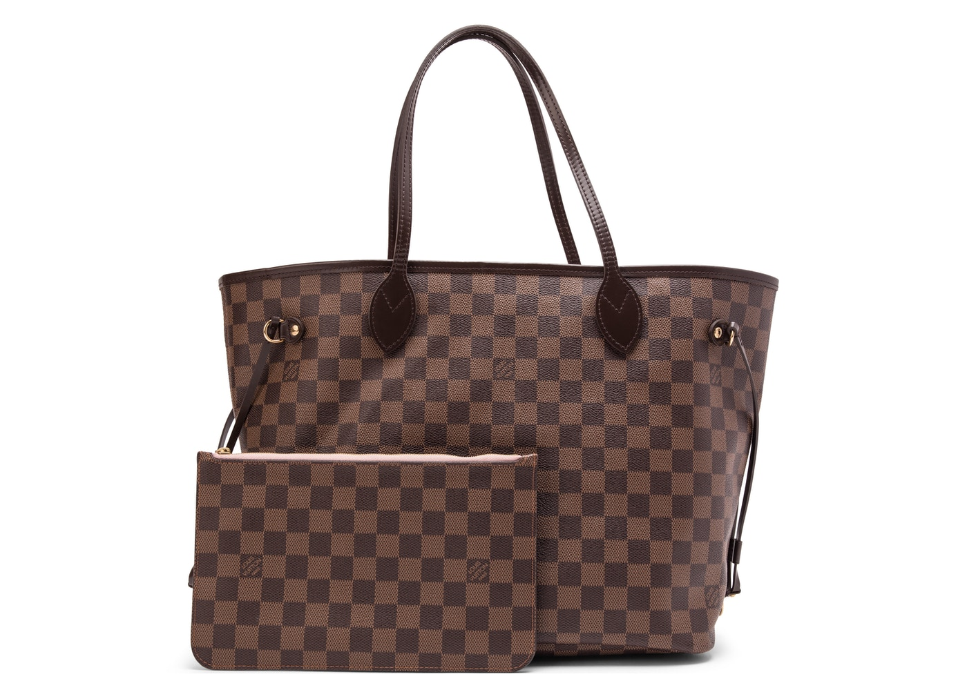14137663faba Louis Vuitton Neverfull NM Damier Ebene MM (With Pouch) Rose ...