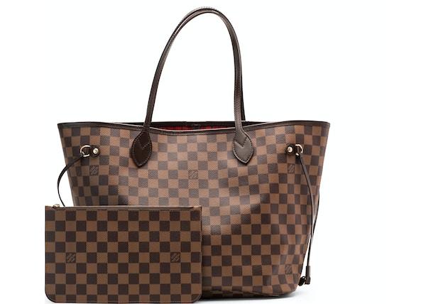 d41041ada62f1 Louis Vuitton Neverfull Damier Ebene MM Cerise Lining