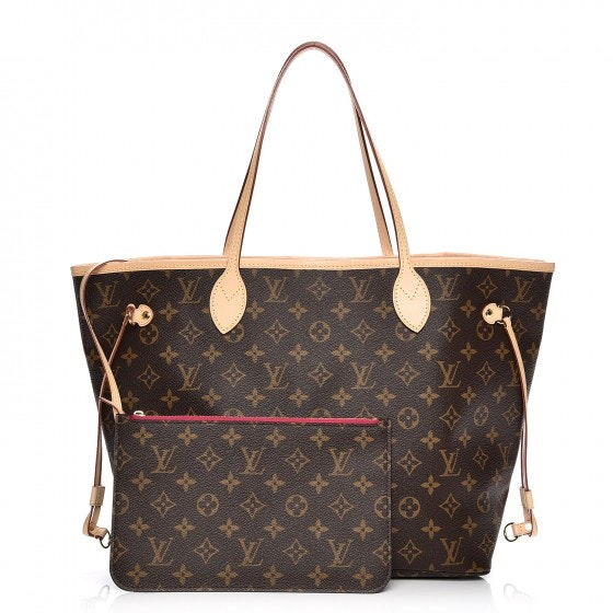 Louis Vuitton Neverfull Monogram MM (With Pouch) Pivoine