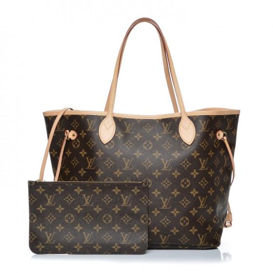 Louis Vuitton Neo Neverfull Monogram Mm Beige Lining In Brown