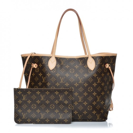 Louis Vuitton Neverfull Nm Monogram MM (With Pouch) Brown
