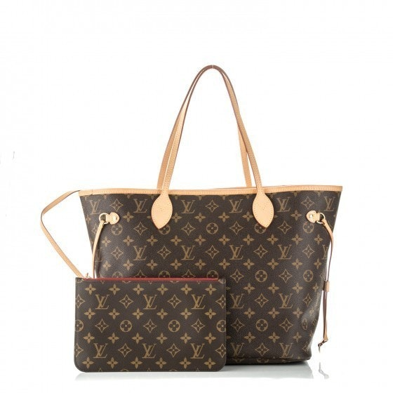 Louis Vuitton Neverfull Nm Monogram MM (With Pouch) Cerise