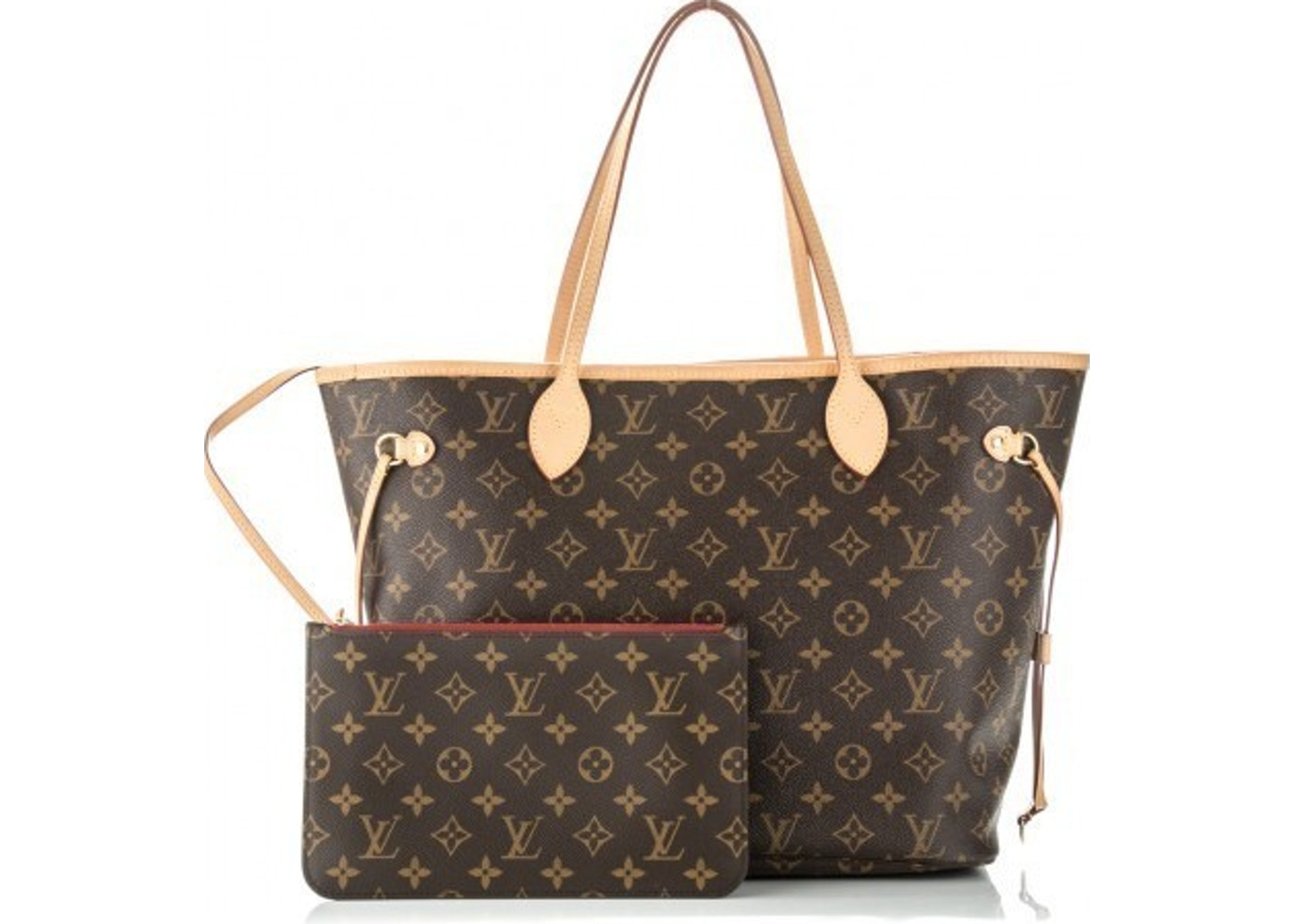 0956a06ff9d3 Louis Vuitton Neverfull Monogram MM (With Pouch) Cerise