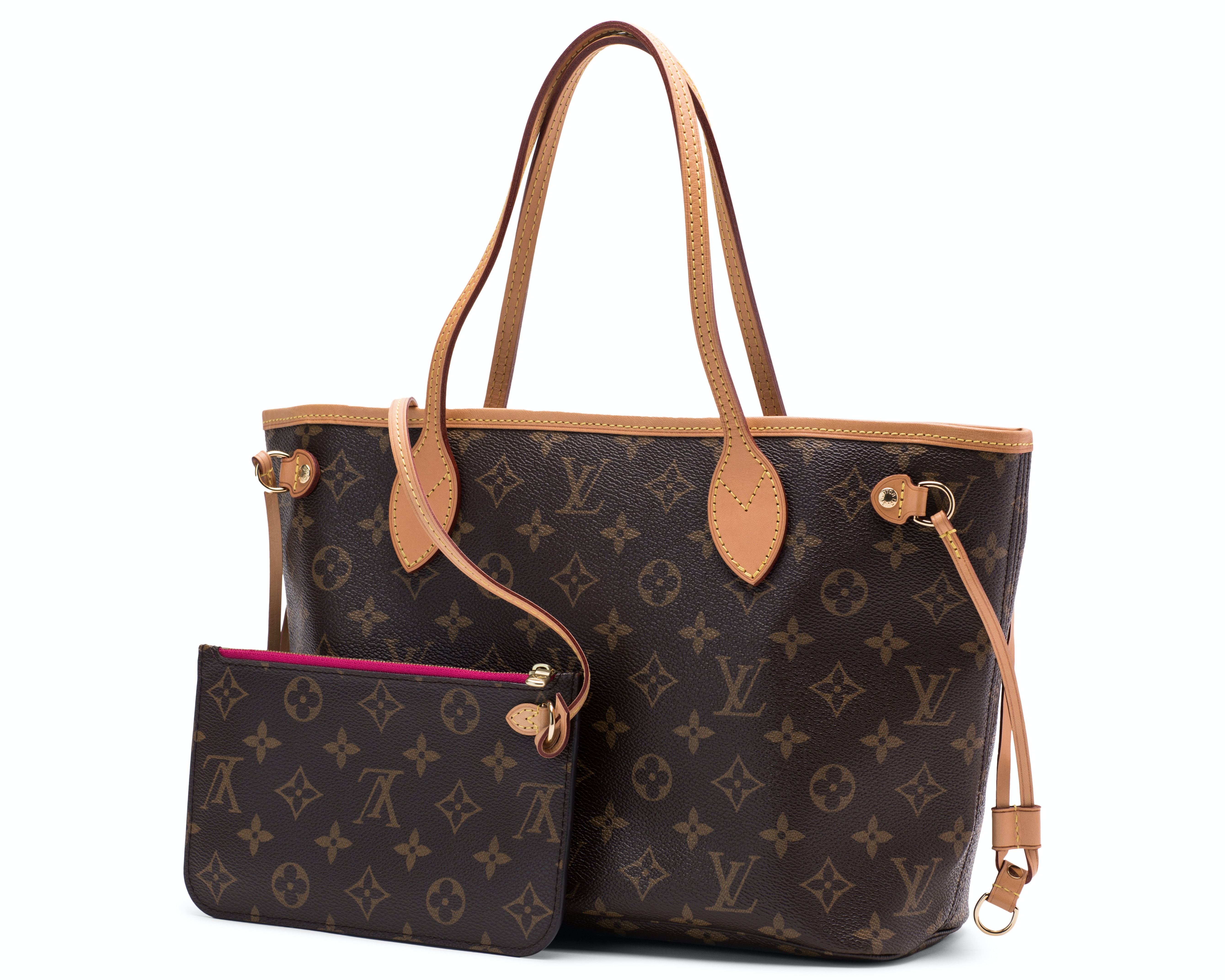 Louis Vuitton Neverfull Monogram PM (With Pouch) Brown