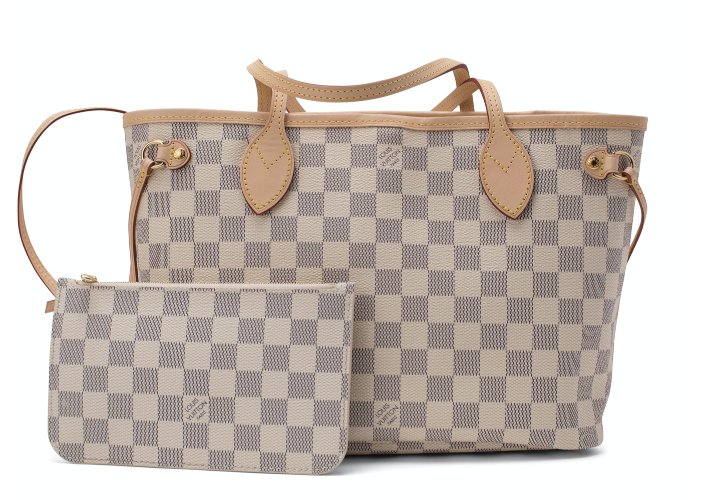 Louis Vuitton Neverfull Damier Azur Handbag Catawiki