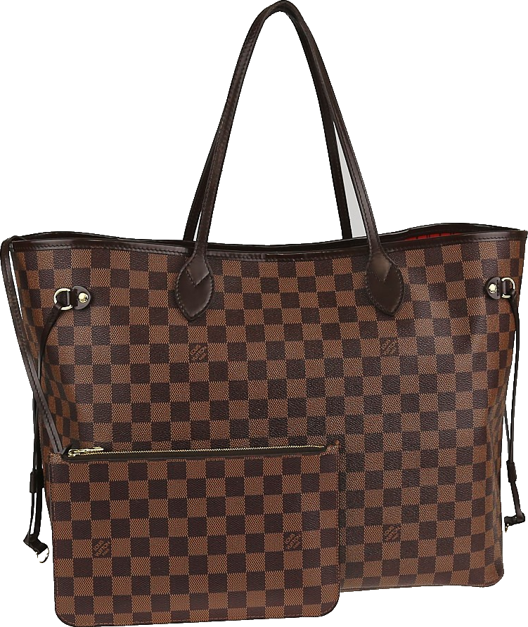 Louis Vuitton Neverfull Nm Damier Ebene GM (With Pouch) Brown