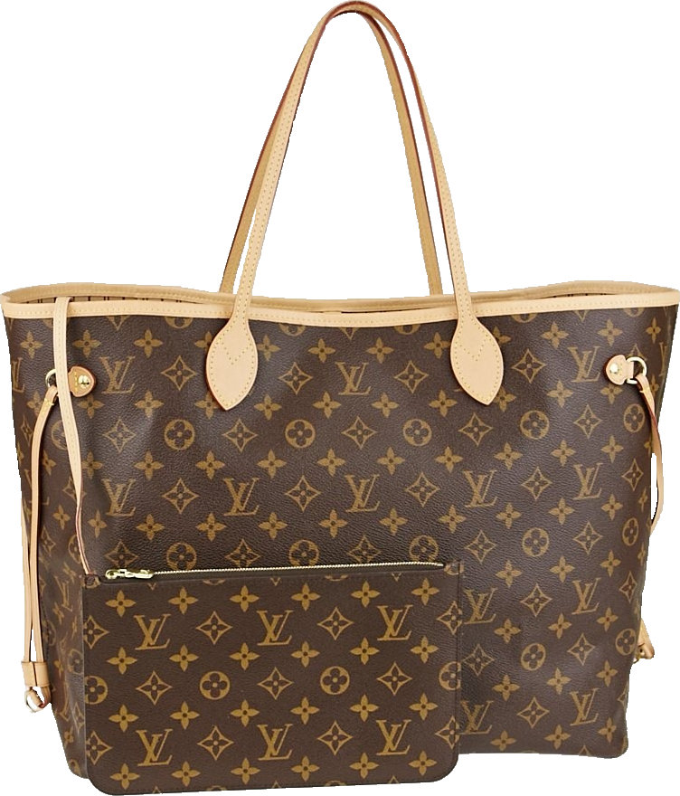 Louis Vuitton Neverfull Nm Monogram GM (With Pouch) Brown