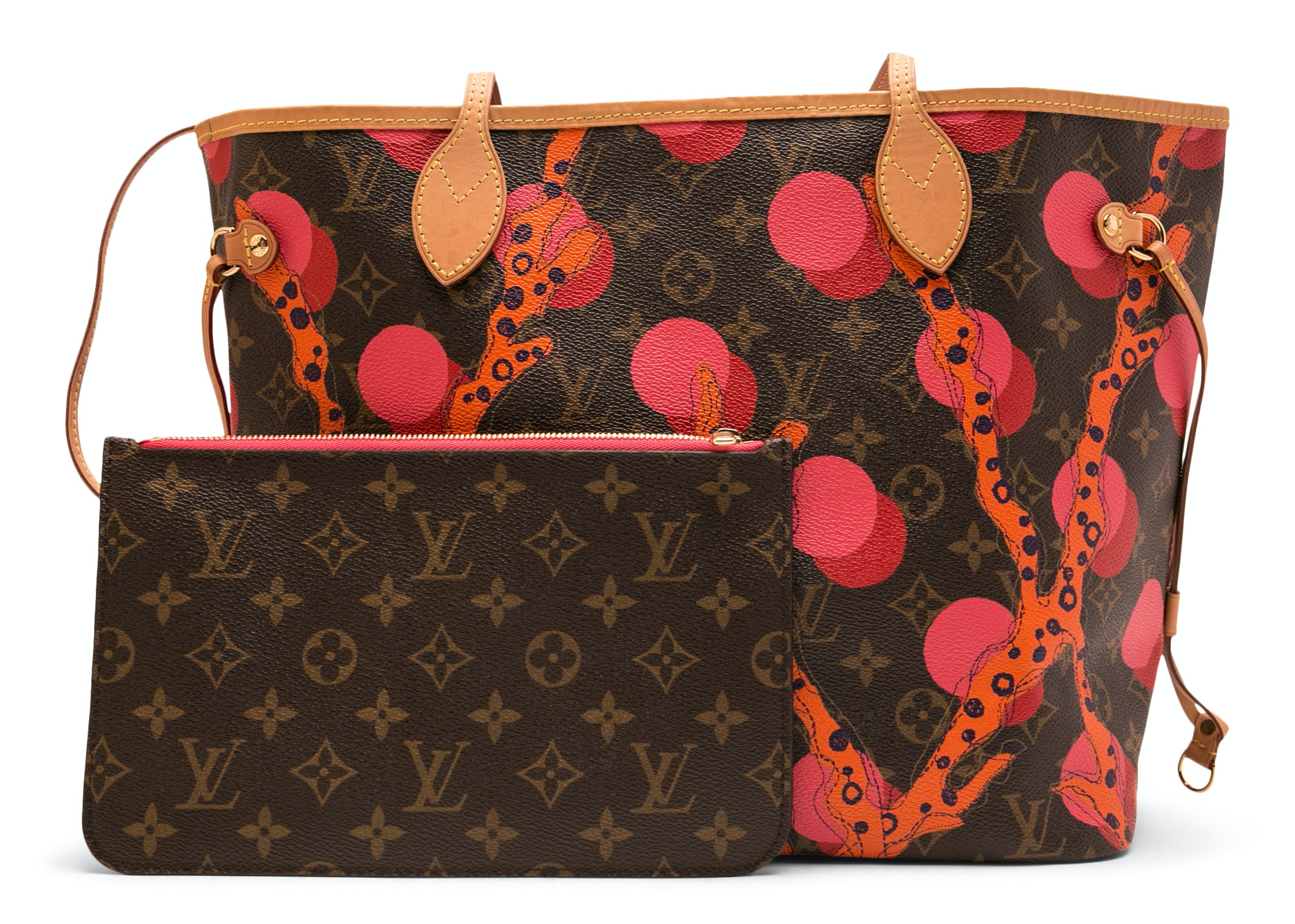 Louis Vuitton Neverfull Nm Monogram Ramages MM (With Pouch) Grenade