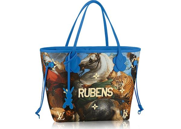 66106a28dc26 Louis Vuitton Neverfull Peter Paul Rubens Masters Jeff Koons MM Blue  Multicolor