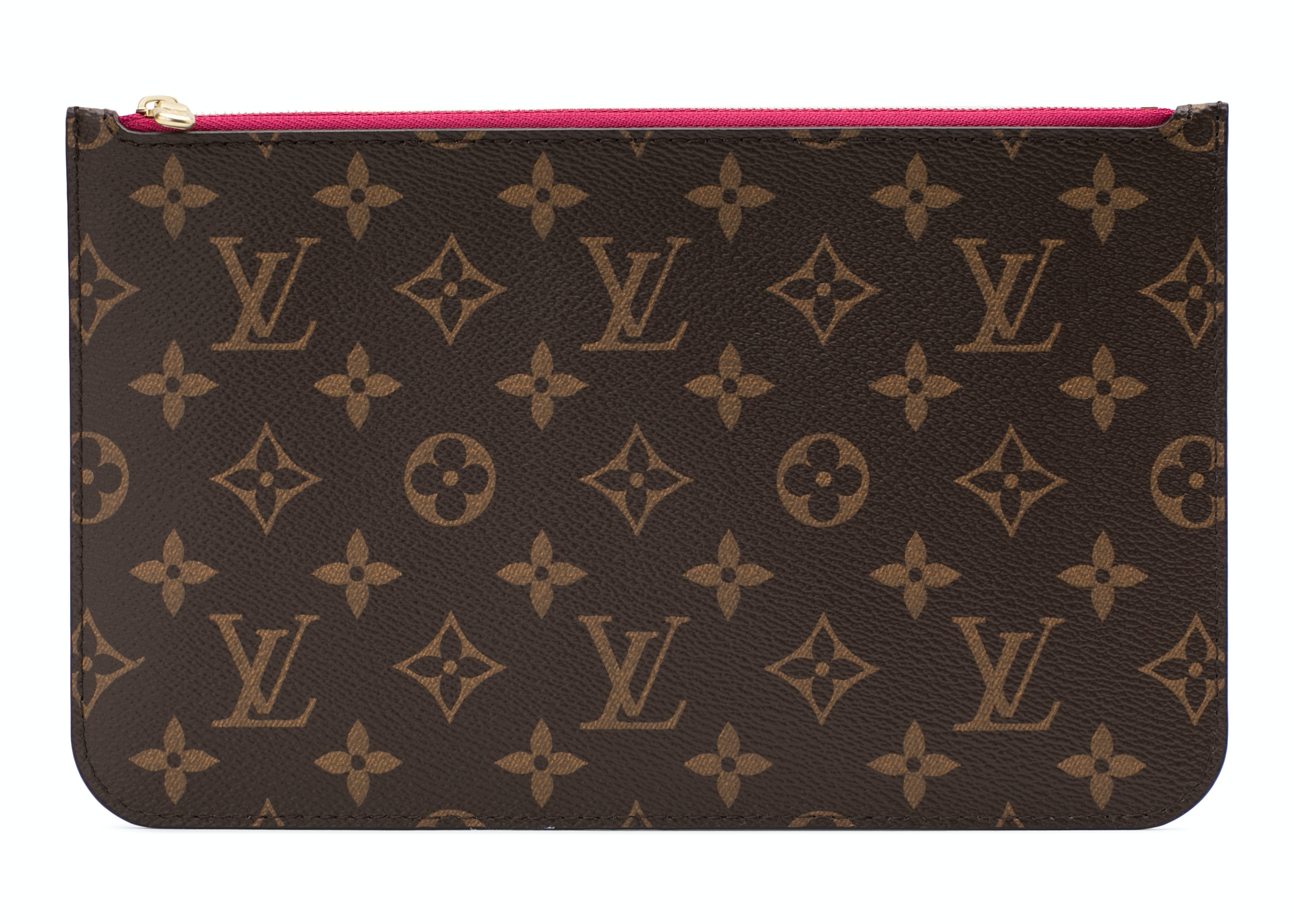 Louis Vuitton Neverfull Pochette Monogram Brown Pivoine