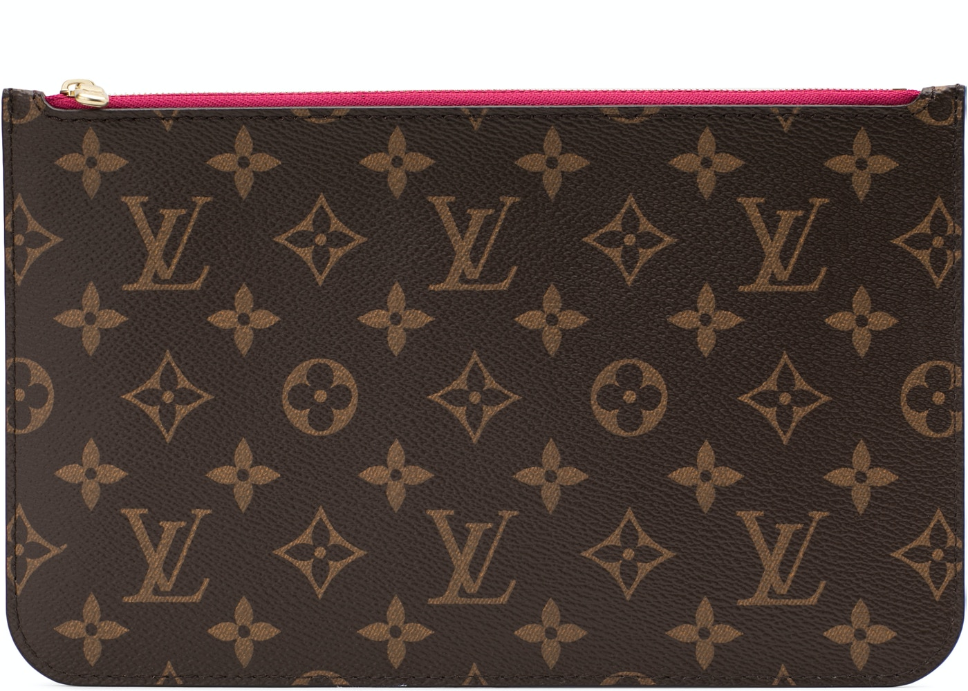 52791db7046c Louis Vuitton Neverfull Pochette Monogram Brown Pivoine. Monogram Brown  Pivoine