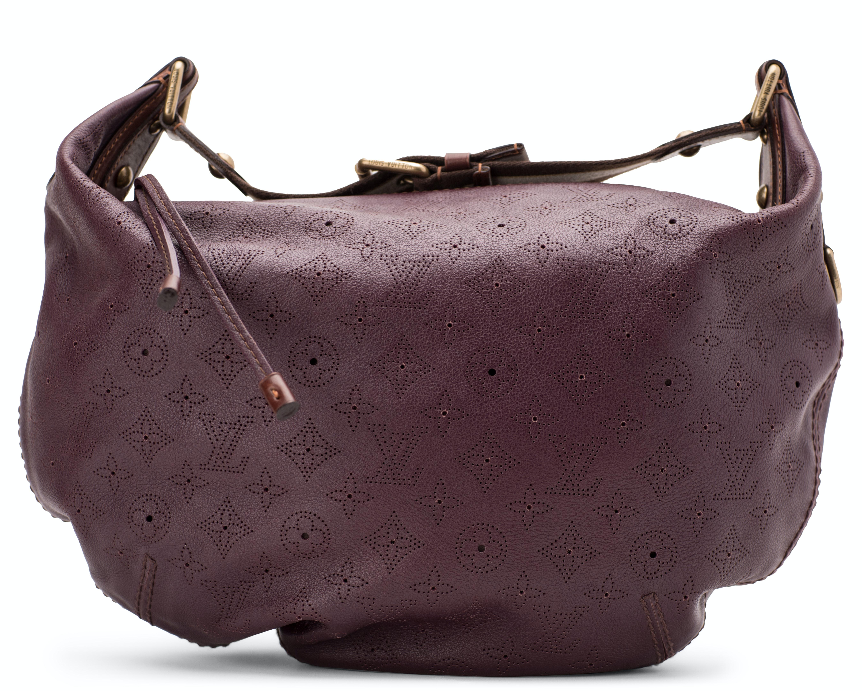 Louis Vuitton Onatah Hobo Monogram Mahina GM Aubergine