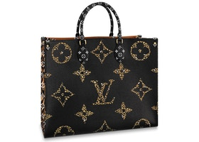 Louis Vuitton Onthego Monogram Giant Jungle Black/Caramel