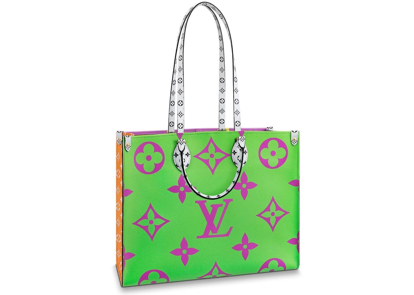 3596dde0dc Louis Vuitton Onthego Monogram Giant Green/Lilac