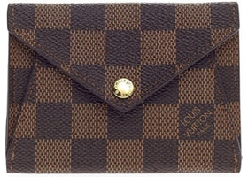 Louis Vuitton Origami Compact Wallet Damier Ebene Brown