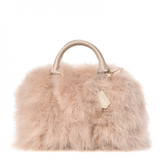 Louis Vuitton Ostrich Feather Speedy 30 Beige