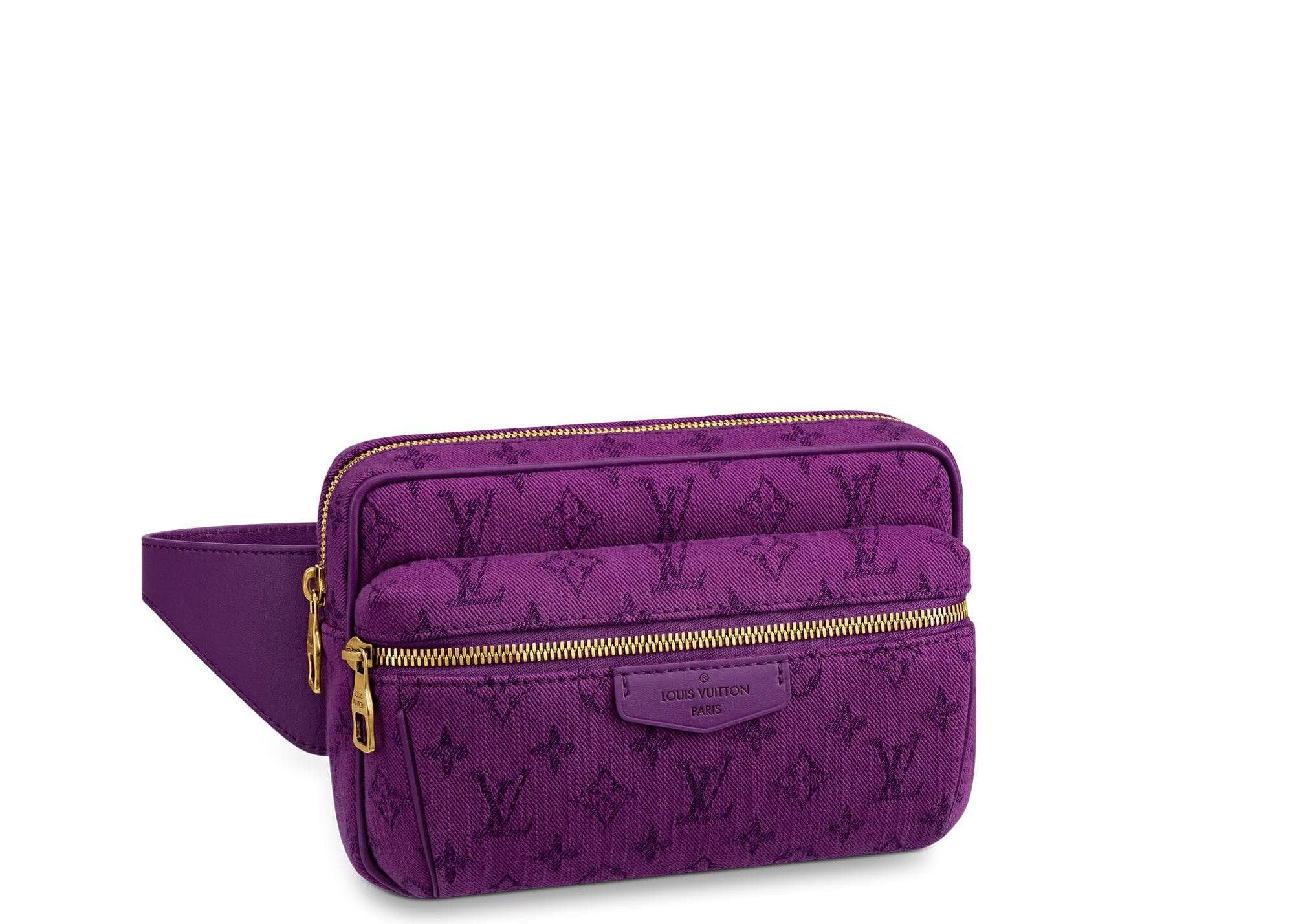 Louis Vuitton Outdoor Bumbag Monogram Denim Purple
