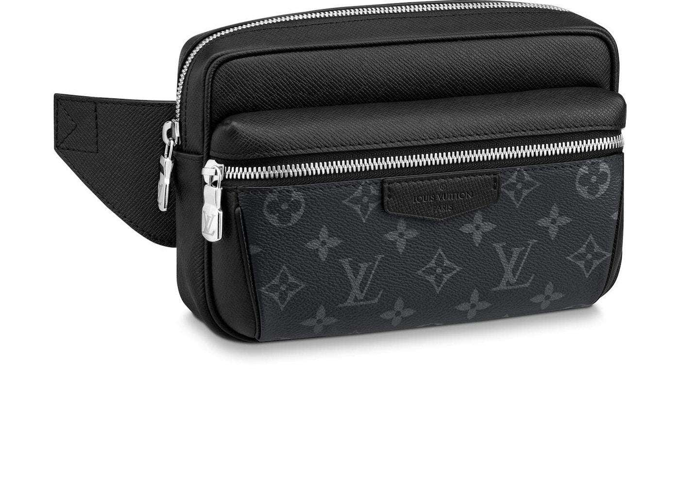 0616b11d3e50 Louis Vuitton Outdoor Bumbag Monogram Eclipse Taiga Black