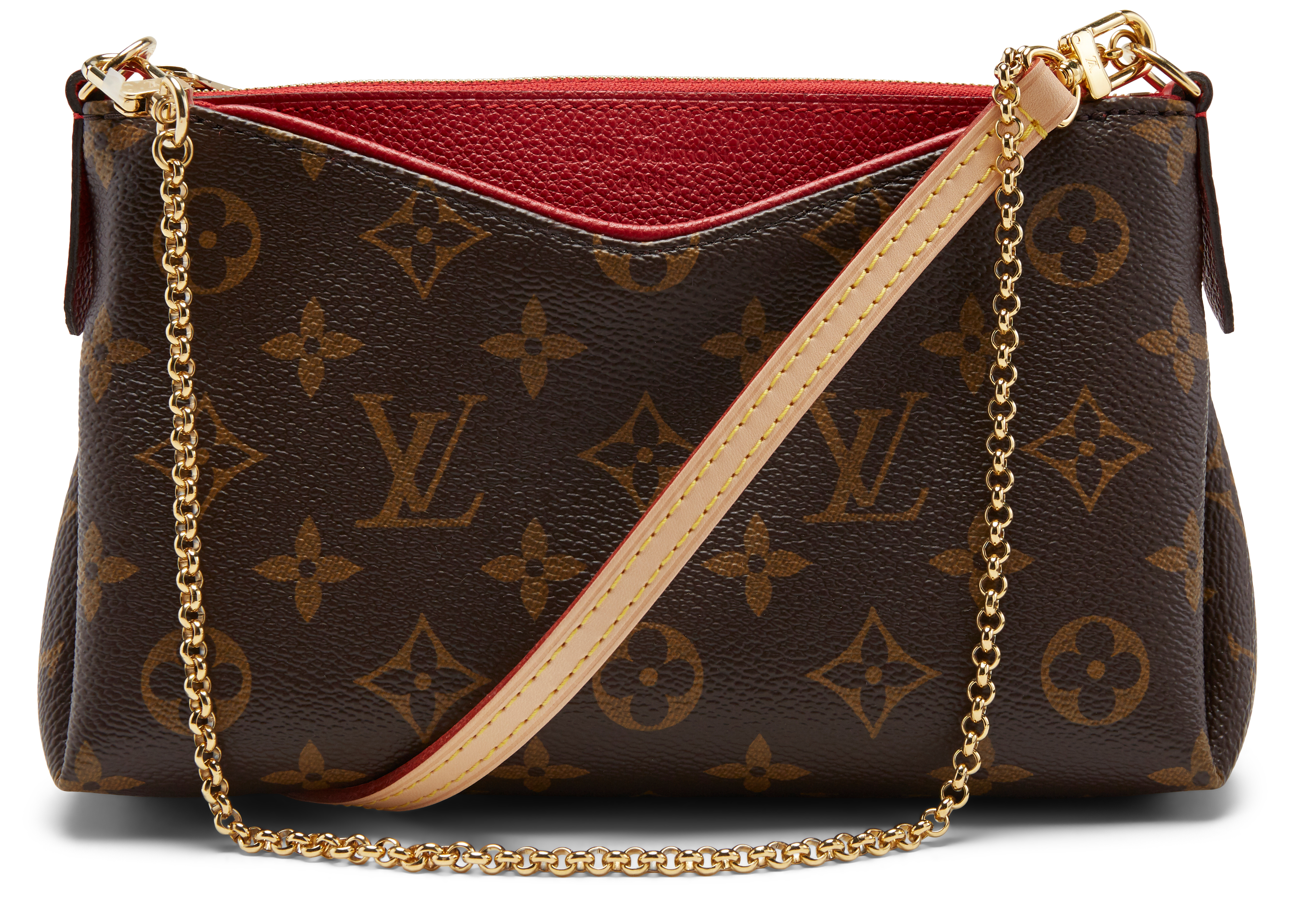 0671f8bb015 Pallas Clutch Monogram Brown in Brown,Red