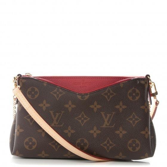 Louis Vuitton Pallas Clutch Monogram Brown