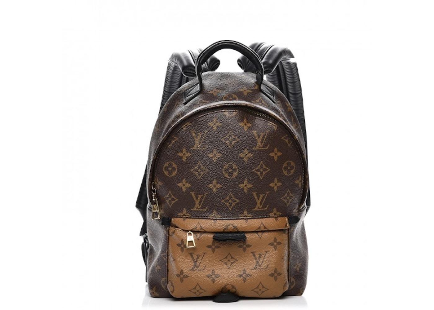 Louis Vuitton Backpack Palm Springs Monogram Reverse Pm Brown