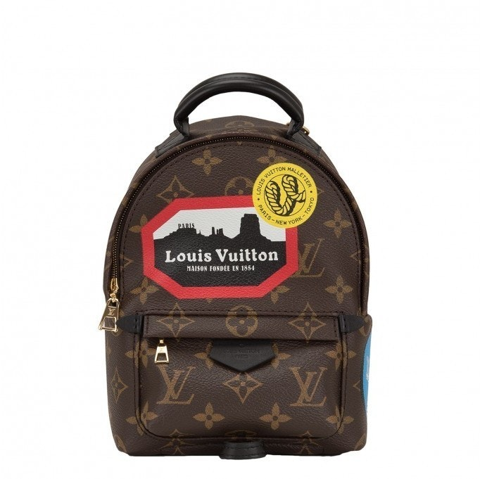 Louis Vuitton Palm Springs Monogram World Tour Mini Brown