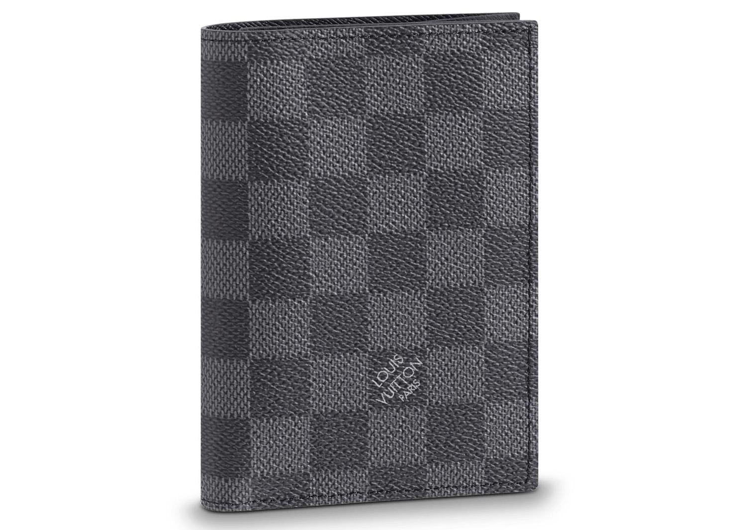 Louis Vuitton Passport Cover Damier Graphite Black/Gray