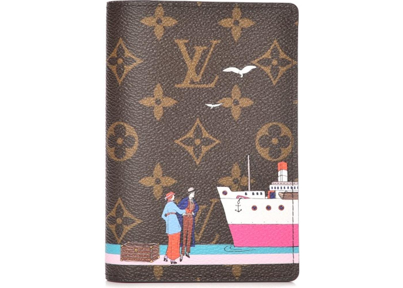 15194e39a8cf Louis Vuitton Passport Cover Illustre Transatlantic Monogram. Monogram