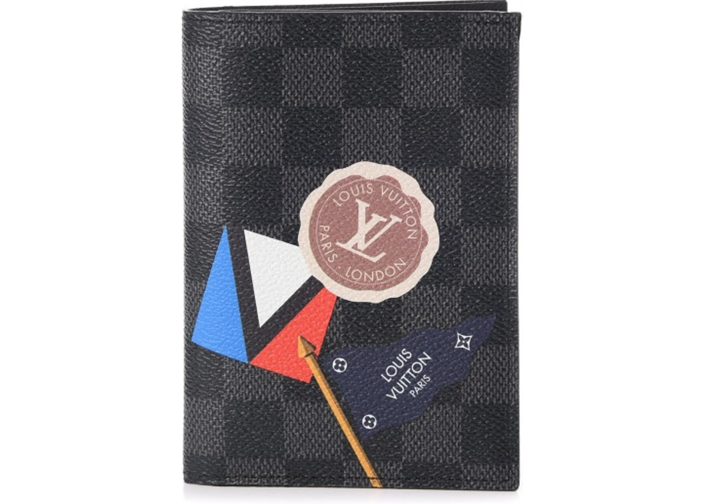 cfb18cafcdbc Louis Vuitton Passport Cover LV League Damier Graphite Black Multicolor.  Damier Graphite Black Multicolor