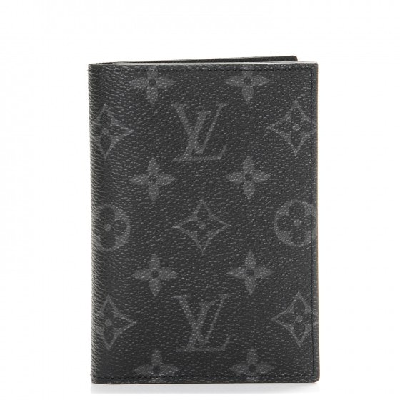 Louis Vuitton Passport Cover Monogram Eclipse Black/Grey