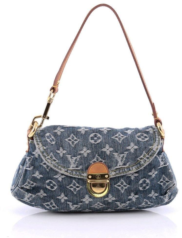 Louis Vuitton Pleaty Monogram Mini Blue