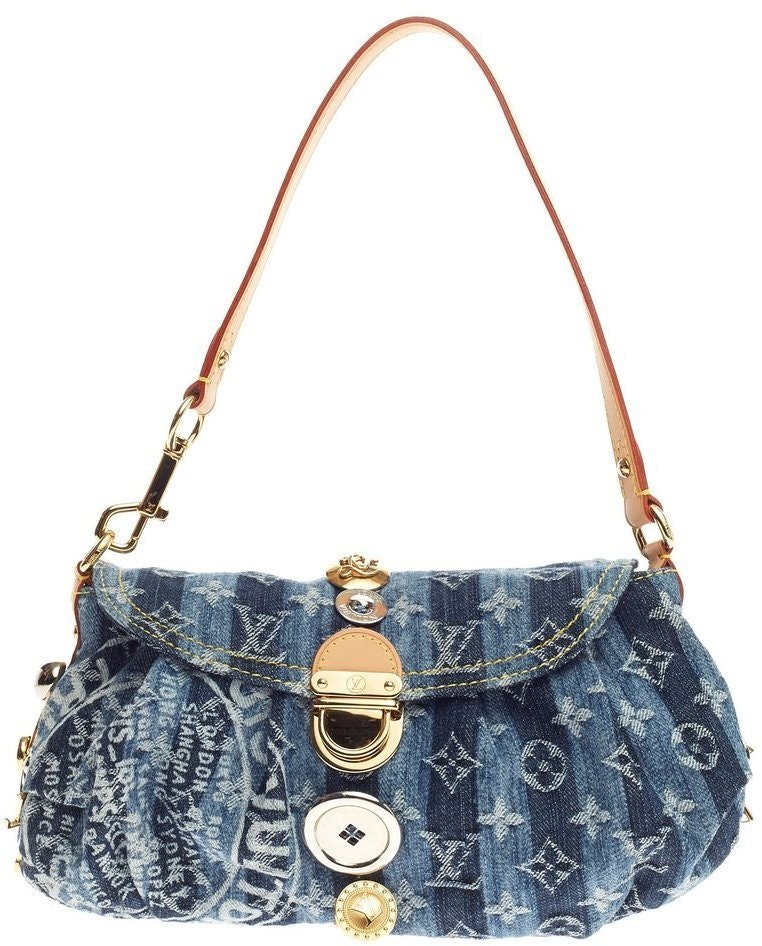 Louis Vuitton Pleaty Raye Monogram Trunks & Bags Mini Blue