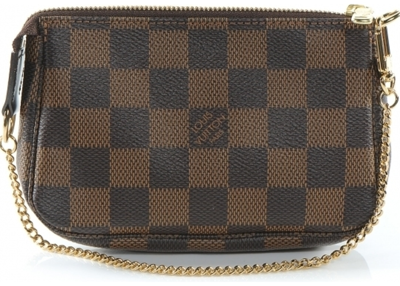 eed4c099b Louis Vuitton Pochette Accessoires Damier Ebene Mini Brown. Damier Ebene  Mini Brown