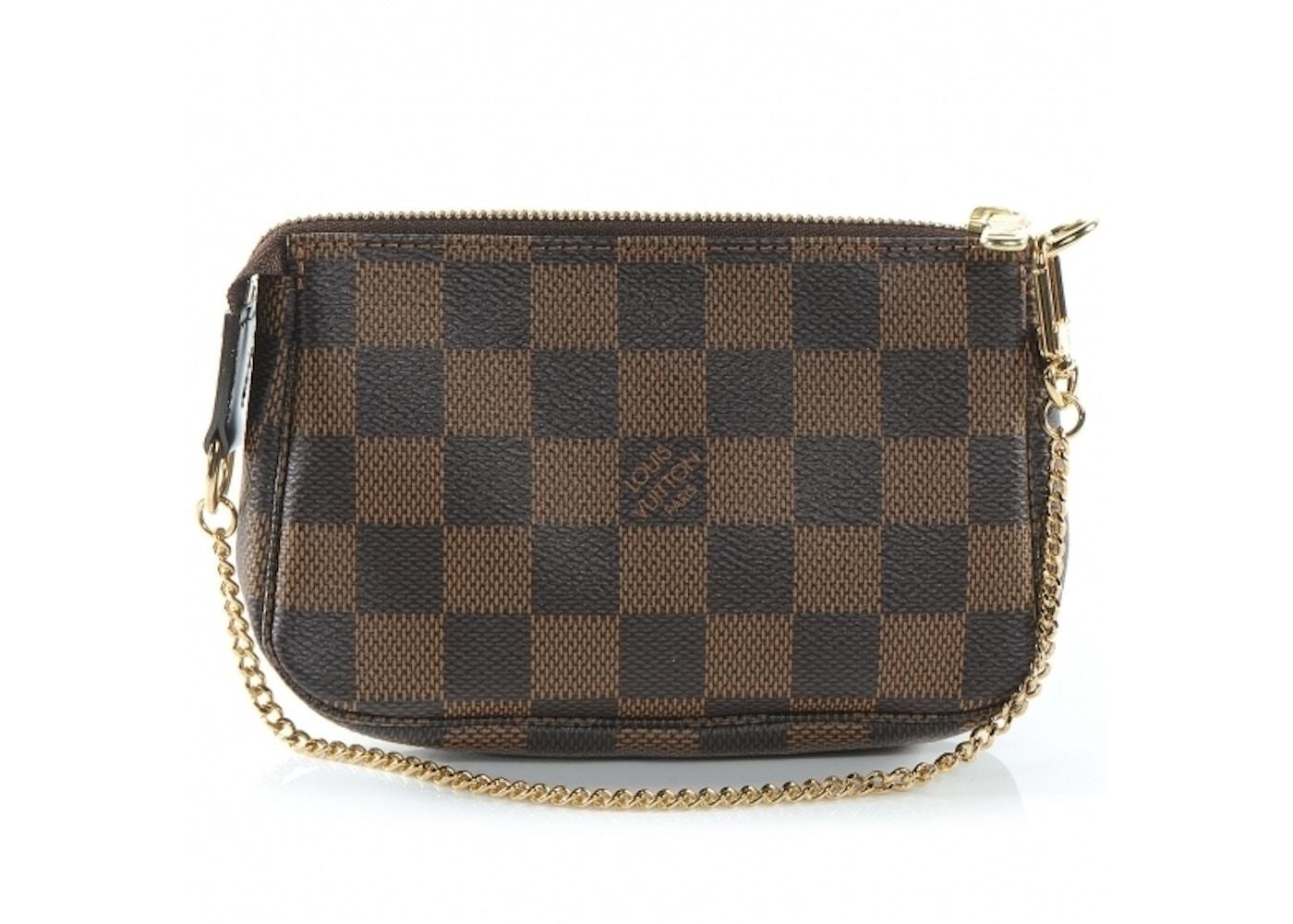 la meilleure attitude ac127 bdfd6 Louis Vuitton Pochette Accessoires Damier Ebene Mini Brown