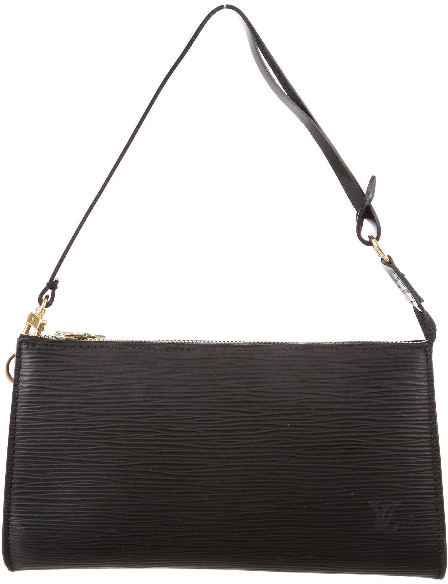 Louis Vuitton Pochette Accessoires Epi Black