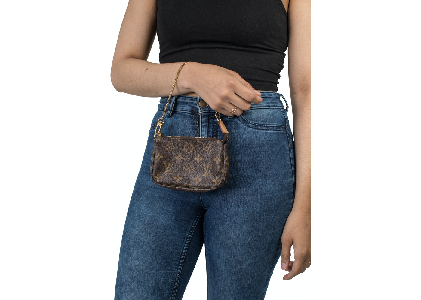 4a29f01538 Louis Vuitton Pochette Accessoires Monogram Mini Brown
