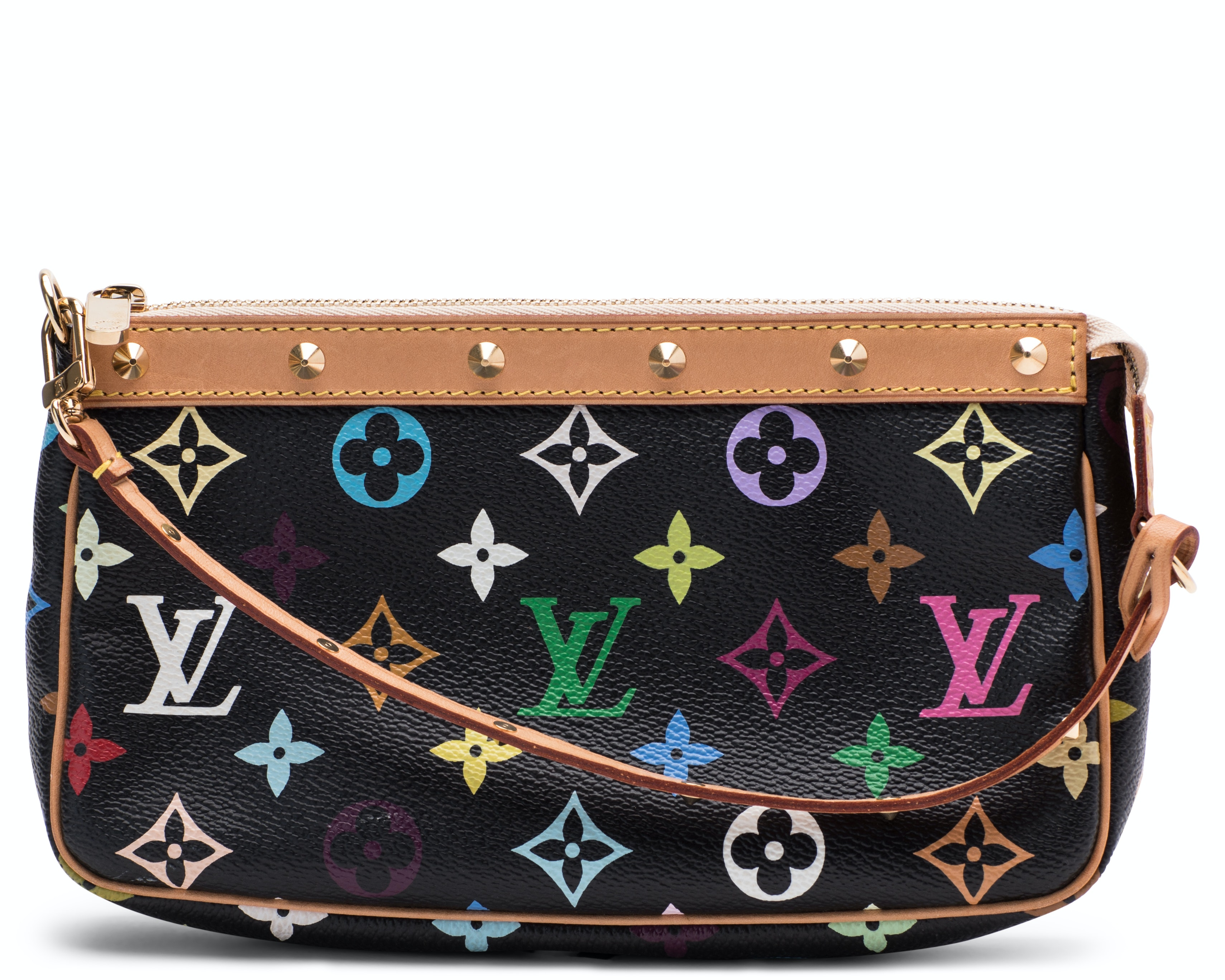 Louis Vuitton Pochette Accessoires Monogram Multicolore Black