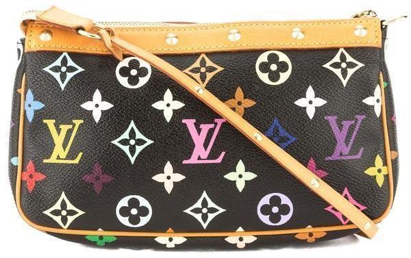 Louis Vuitton Pochette Accessoires Monogram Multicolore Black