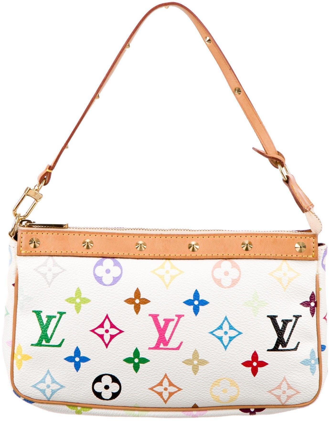 Louis Vuitton Pochette Monogram Multicolore White