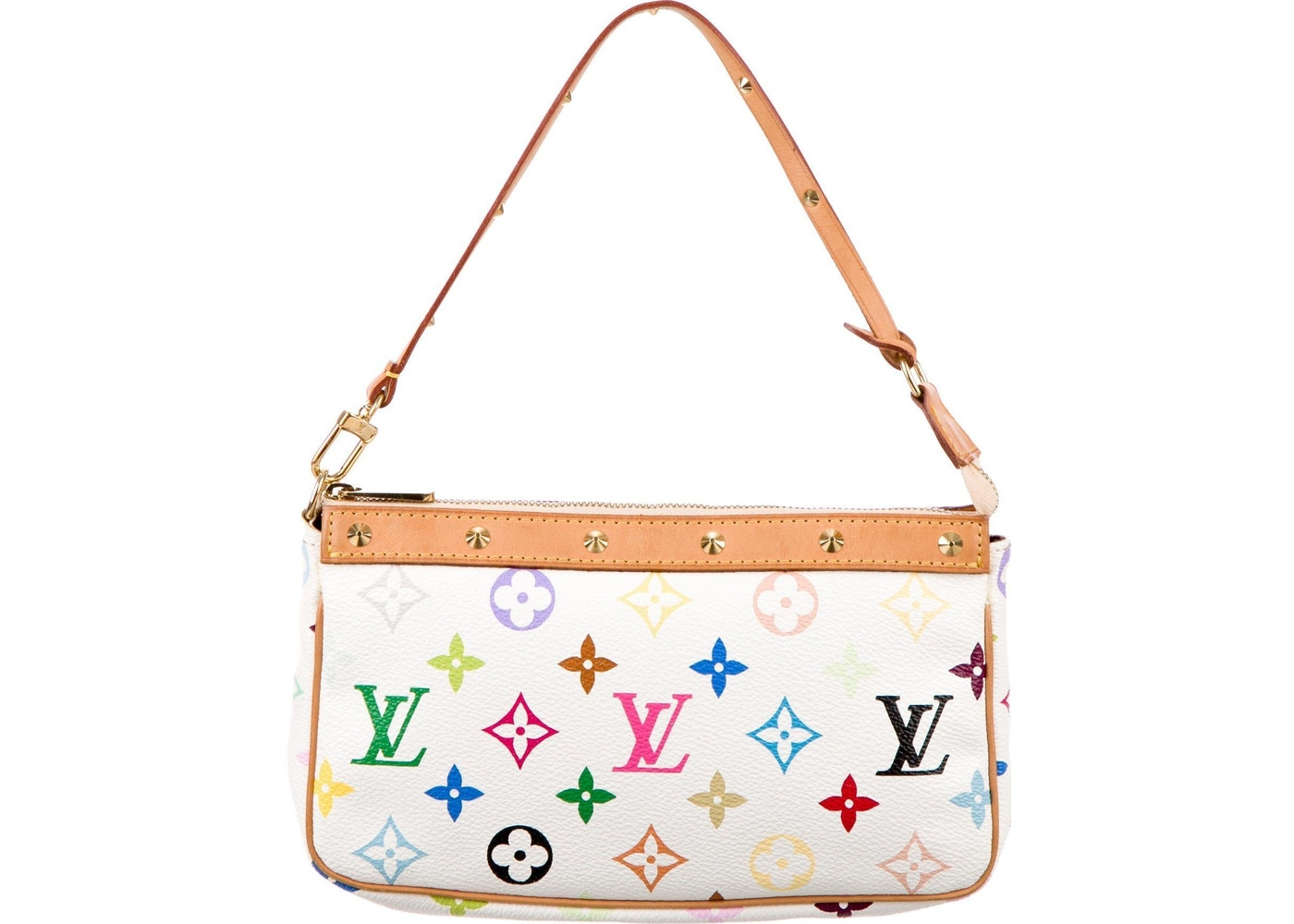 824aafe9b11b Louis Vuitton Pochette Monogram Multicolore White. Monogram Multicolore  White