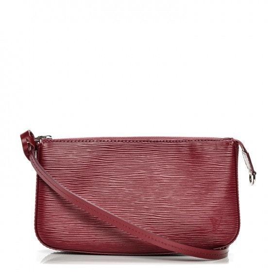 Louis Vuitton Pochette Accessories Epi NM Fuchsia