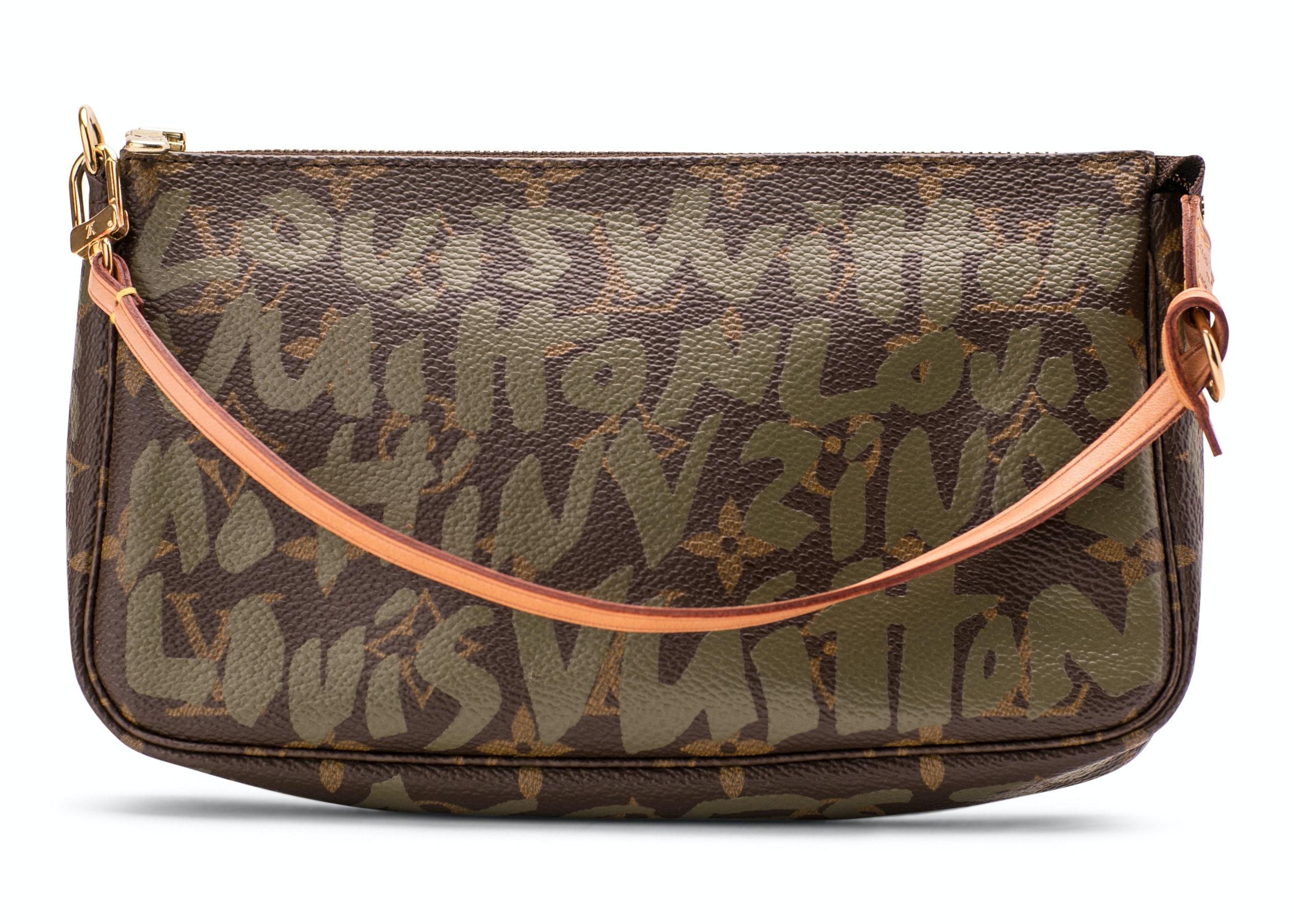 Louis Vuitton Pochette Accessories Monogram Graffiti Khaki