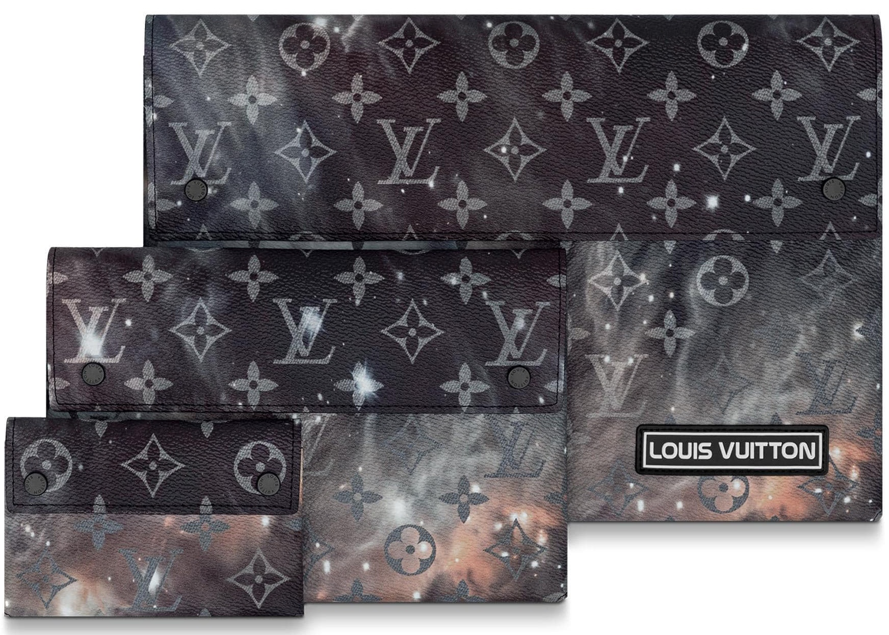 Louis Vuitton Pochette Alpha Triple Monogram Galaxy Black Multicolor