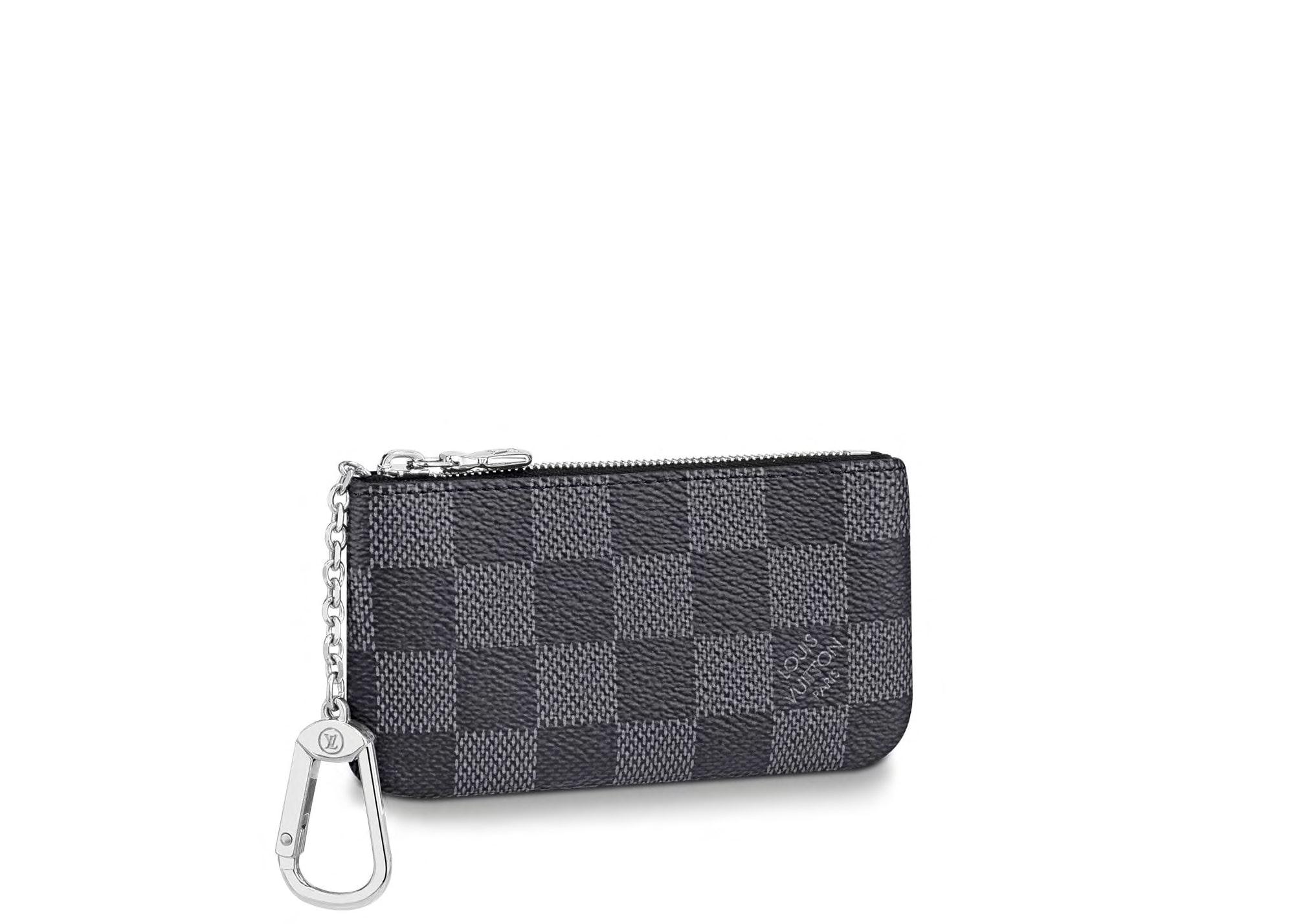 Louis Vuitton Pochette Cle Key Pouch Damier Graphite Black/Gray